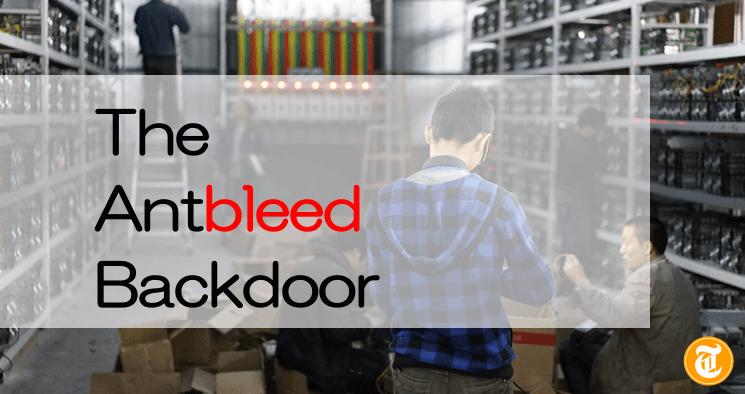 マイニングマシンの70%が停止する危険性もThe Antbleed Backdoor問題