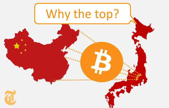 日本が世界最大のビットコイン市場へ「中国取引所閉鎖は良い事?」