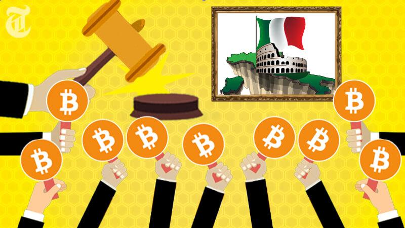 ビットコイン決済可能なオークション開催「イタリアが世界初」