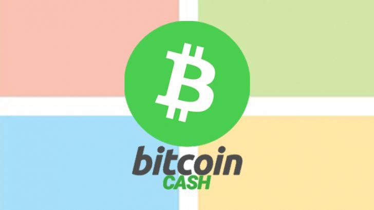 MicrosoftがBitcoin Cash決済を導入