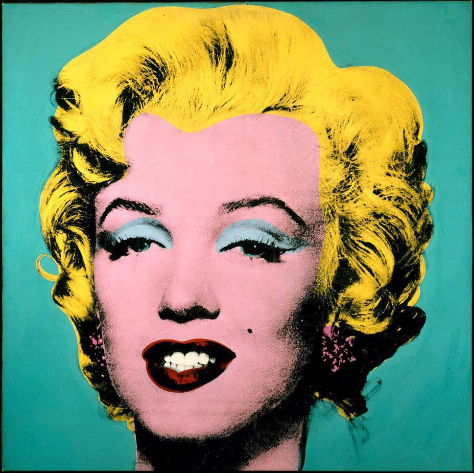 Andy Warhol氏の作品として有名なマリリン・モンローの絵画(albatro.jpから)