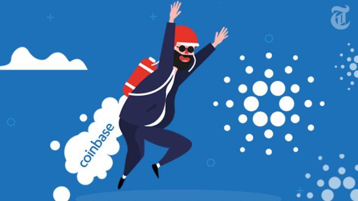 CARDANO(ADA)11%上昇!coinbaseが上場予定の仮想通貨5種類を発表