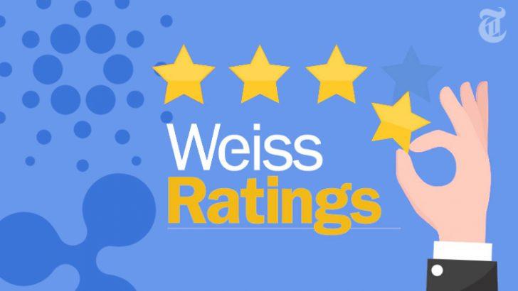 カルダノとリップル「仮想通貨格付け」で同率1位に|米機関Weiss Ratings社