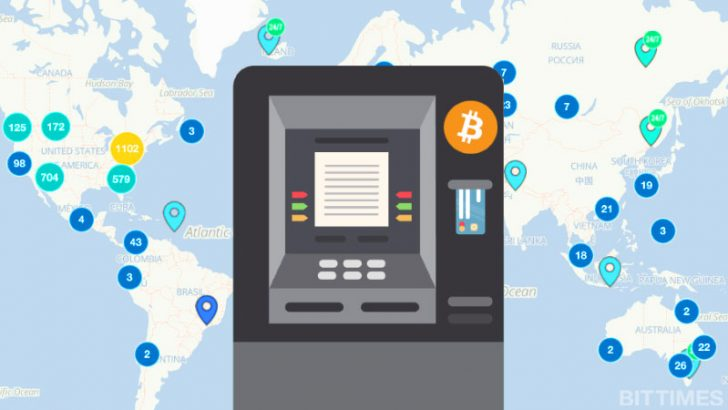 仮想通貨ATMの導入が止まらない!2018年内には5,000台を突破