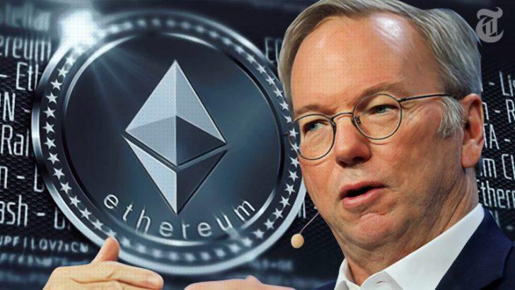 「イーサリアム(ETH)は大きな可能性を秘めている」元Google CEOエリック・シュミット