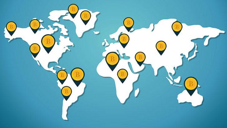 世界各国の「ビットコイン導入率」を可視化|最もユーザー数が多い地域は?