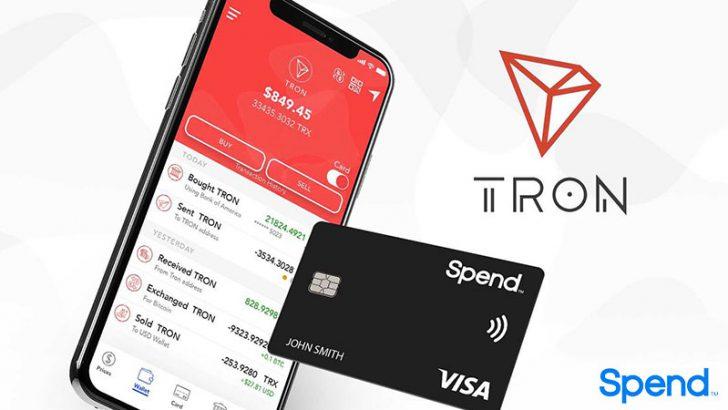トロン(TRON/TRX)が仮想通貨ウォレット「Spend」で利用可能に