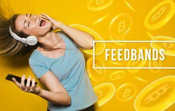音楽ストリーミングで「ビットコイン報酬」が貰える|FEEDBANDS(フィードバンド)