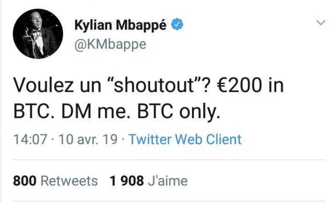 Mbappe-tweet