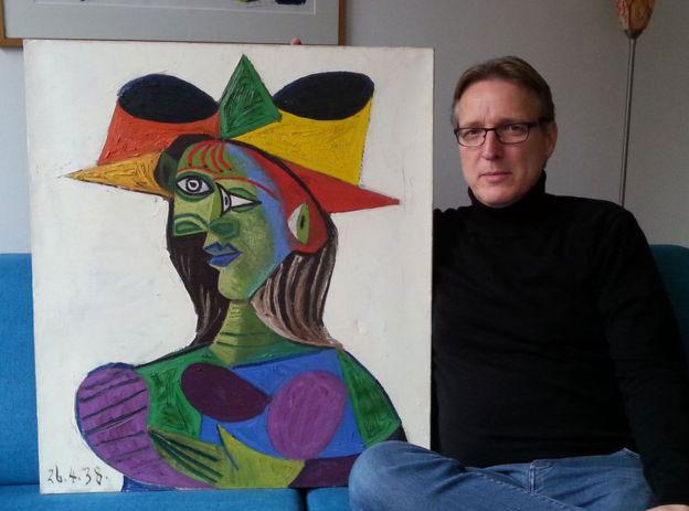 20年ぶりに発見された「ドラ・マールの肖像」(画像:bbc.com)