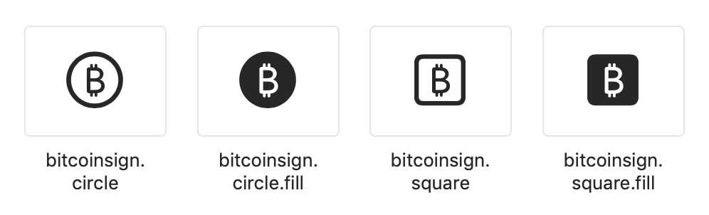 Appleの新しいビットコインアイコンセット