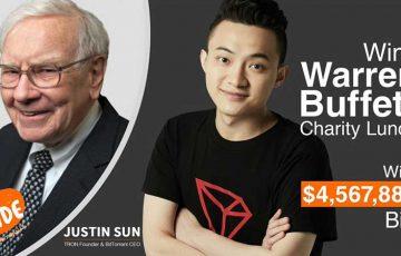 Tron CEO:投資の神「バフェット氏とランチ」へ|ブロックチェーン業界のリーダーも招待