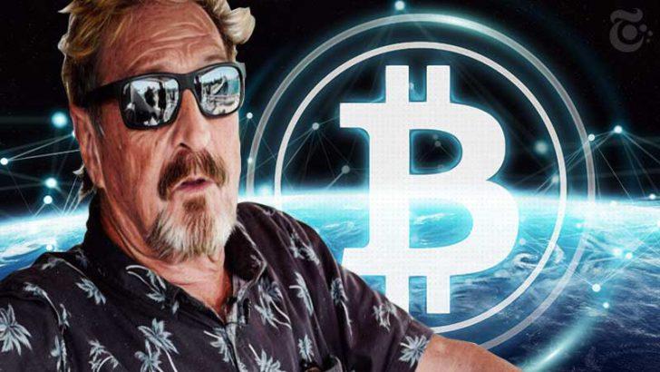 ビットコイン、1週間後からの「急上昇」を予想:ジョン・マカフィー