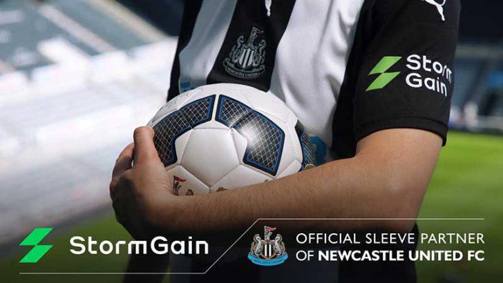 仮想通貨取引所StormGain:プレミアリーグ所属の「Newcastle United FC」とスポンサー契約
