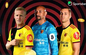 Watford FC:ビットコインロゴを「ユニフォーム」にプリント|大手ブックメーカーと提携