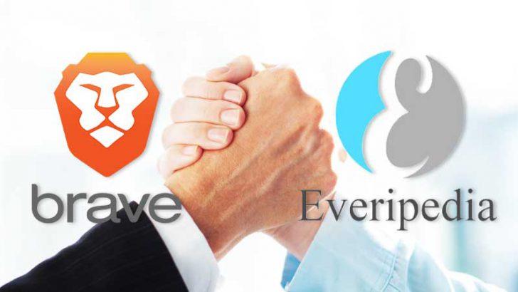 Braveブラウザ:ブロックチェーン基盤のオンライン百科事典「Everipedia」と提携