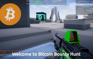 ビットコインを収集できるFPSゲーム「Bitcoin Bounty Hunt」登場:Donnerlab
