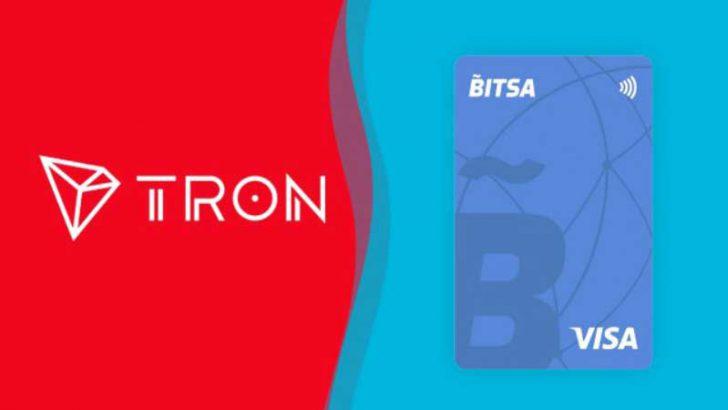 Tron(TRX)が仮想通貨対応プリペイドカード「Bitsa」で利用可能に