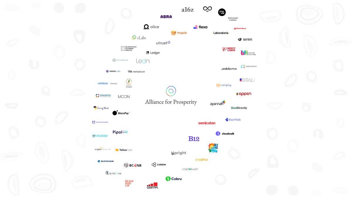 「Alliance for Prosperity」の参加メンバー(画像:Celo Foundation)