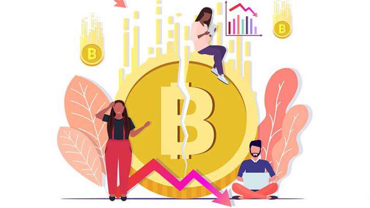 ビットコイン価格「40万円台」まで暴落|主要仮想通貨も大幅マイナス