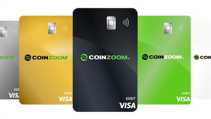 コインベースに続き「仮想通貨決済対応Visaカード」発行:米取引所CoinZoom