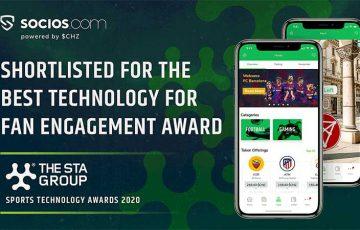 Chiliz&Socios:スポーツテクノロジーアワードの「最終候補」に選出