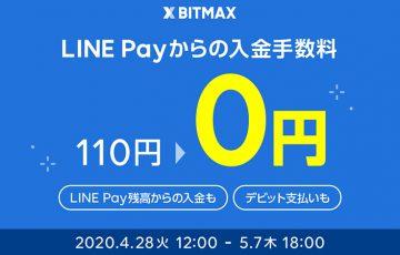 BITMAX「LINE Payからの入金手数料」を無料化【ゴールデンウィーク限定】