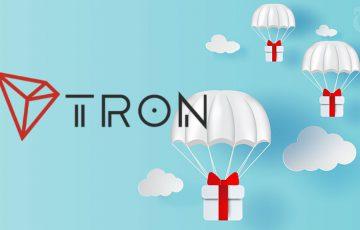 Tron:TRX保有者に「約10億JSTのエアドロップ」実施へ