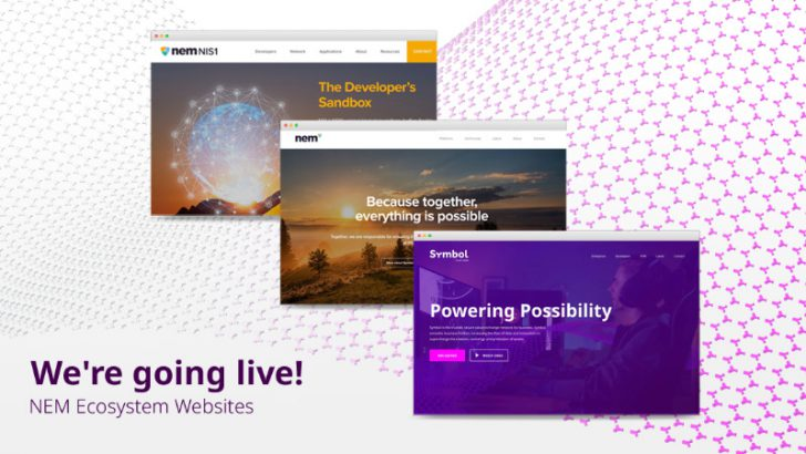 NEM・Symbol関連の「新たなウェブサイト」公開|2020年マーケティングプランも