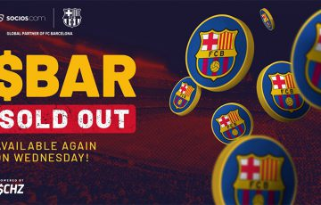 FCバルセロナの公式ファントークン「2時間で完売」明日には再販開始【Chiliz】
