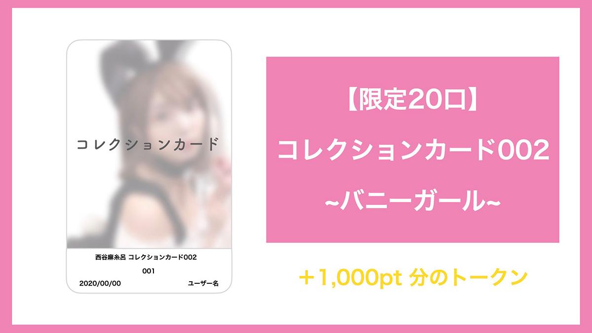 ※画像は「コレクションカード002」+1,000pt分のトークンです