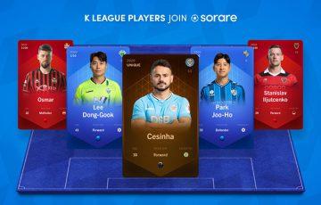 Sorare:韓国サッカー「Kリーグ1」と提携|所属選手のブロックチェーンカード発行へ