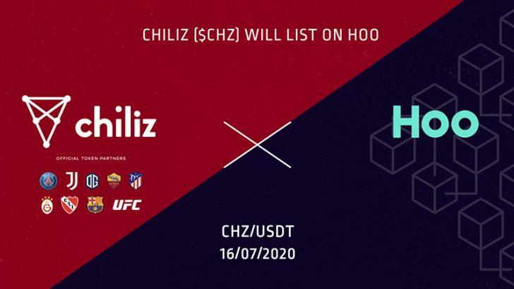 チリーズ(Chiliz/CHZ)アジアの暗号資産取引所「HOO.COM」に上場