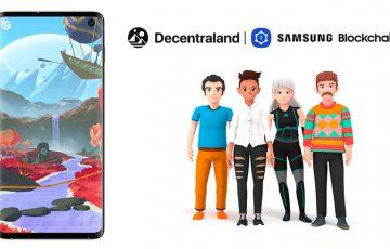 Samsung Blockchain Wallet「ディセントラランド(Decentraland)」をサポート