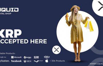 オンラインショップ「Uquid」XRP決済を称賛|最大70%割引で30,000以上の商品を販売