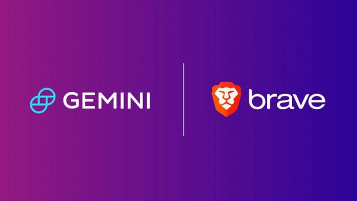 Brave:暗号資産取引所「Gemini」と提携|ブラウザ上にウィジェット機能を追加