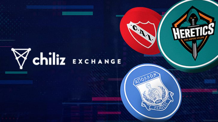 Chiliz Exchange:公式ファントークン「APL・CAI・TH」の取引開始
