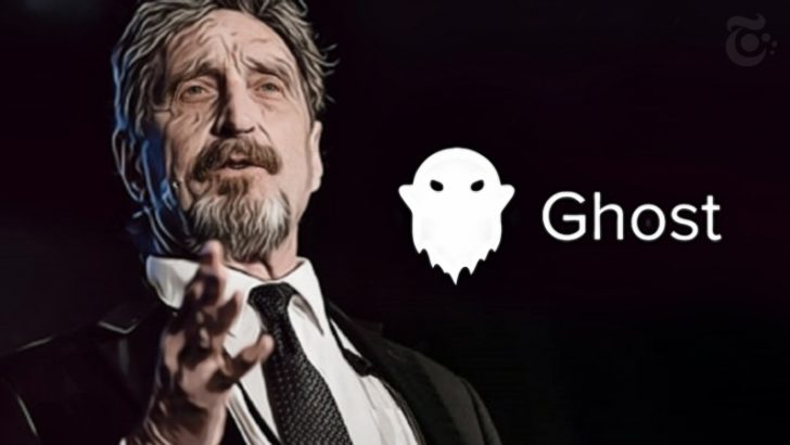 ジョン・マカフィー:匿名仮想通貨プロジェクト「GHOST」から離脱|トークン価格は急落