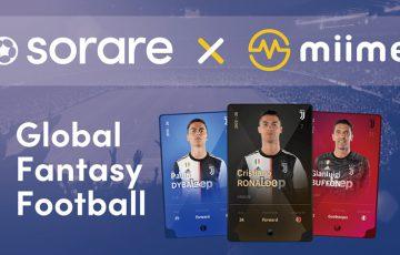 Sorareの選手カード、NFT取引所「miime」で取扱いへ|メタップスアルファと提携