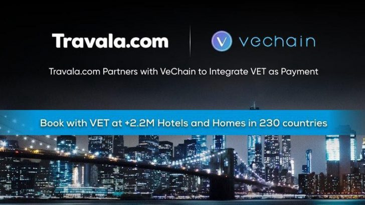 VeChain:旅行予約サイト「Travala.com」と提携|VET決済でホテル予約が可能に
