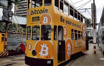 香港ビットコイン協会:路面電車などで「BTC広告」を大々的に掲載