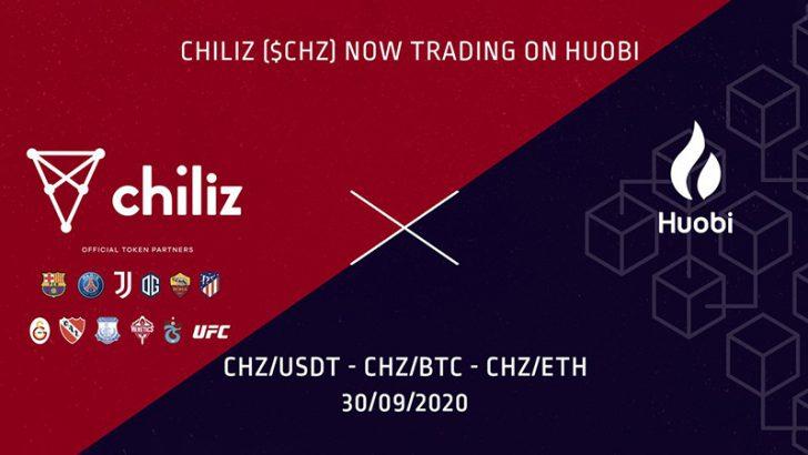 チリーズ(Chiliz/CHZ)大手暗号資産取引所「Huobi Global」に上場