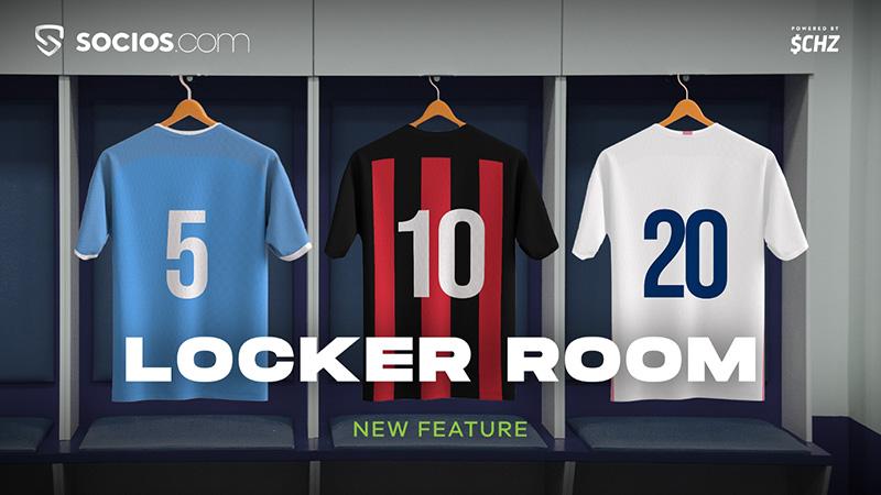 新たなファントークン販売方法「Locker Room」を発表:Chiliz&Socios