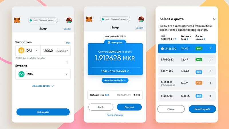 MetaMask(メタマスク)に「トークンスワップ機能」追加 最良のレート・手数料を提供   仮想通貨ニュースメディア ビットタイムズ