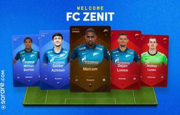 Sorare:ロシアのサッカークラブ「FC Zenit」と提携|デジタル選手カード販売開始
