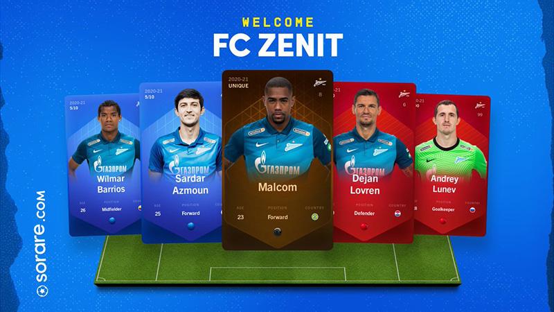Sorare:ロシアのサッカークラブ「FC Zenit」と提携で、デジタル選手カード販売開始