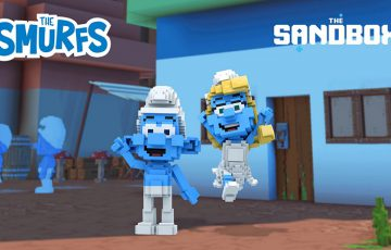 The Sandbox:人気アニメ「The Smurfs(スマーフ)」と提携|仮想ビレッジ構築へ