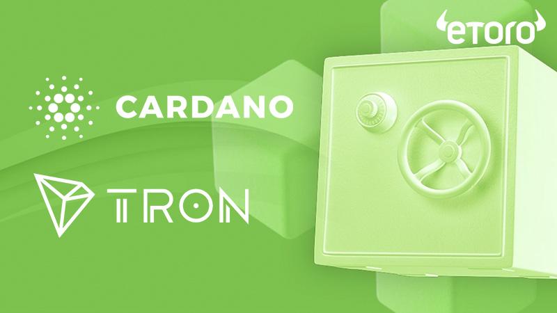 世界最大級のSNSトレードeToro:ADA・TRXのステーキングサービス提供開始発表
