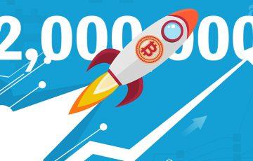 【速報】ビットコイン価格「ついに200万円突破」過去最高値更新も現実的に