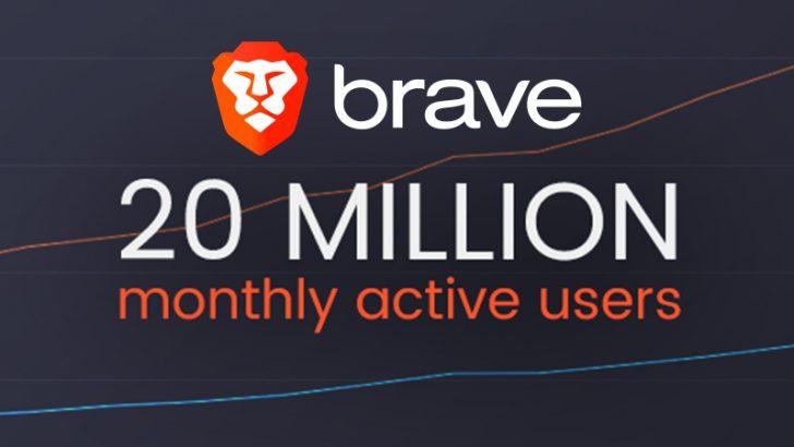 Braveブラウザ:月間アクティブユーザー数「1年間で2倍以上」に増加